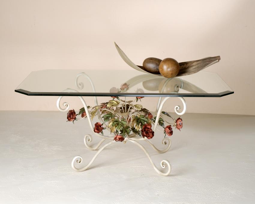 Tavolini In Vetro E Ferro Battuto : Tavolini rose dec