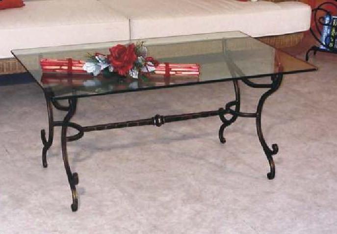 Tavolini in vetro e ferro battuto tavolino da salotto - Tavolini vetro e ottone ...